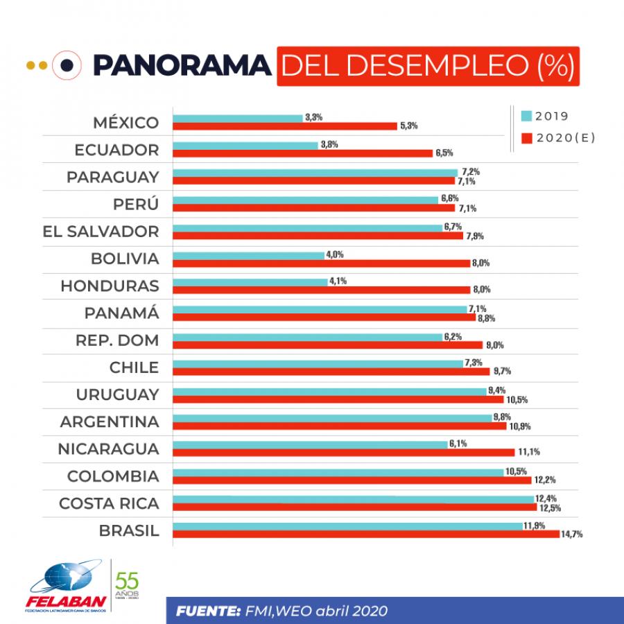 Gráfica Económica Nro 27-1: Panorama del desempleo (%)