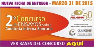 2° Concurso de Ensayos sobre Auditoría Interna Bancaria - CLAIN Entrega 31 de marzo