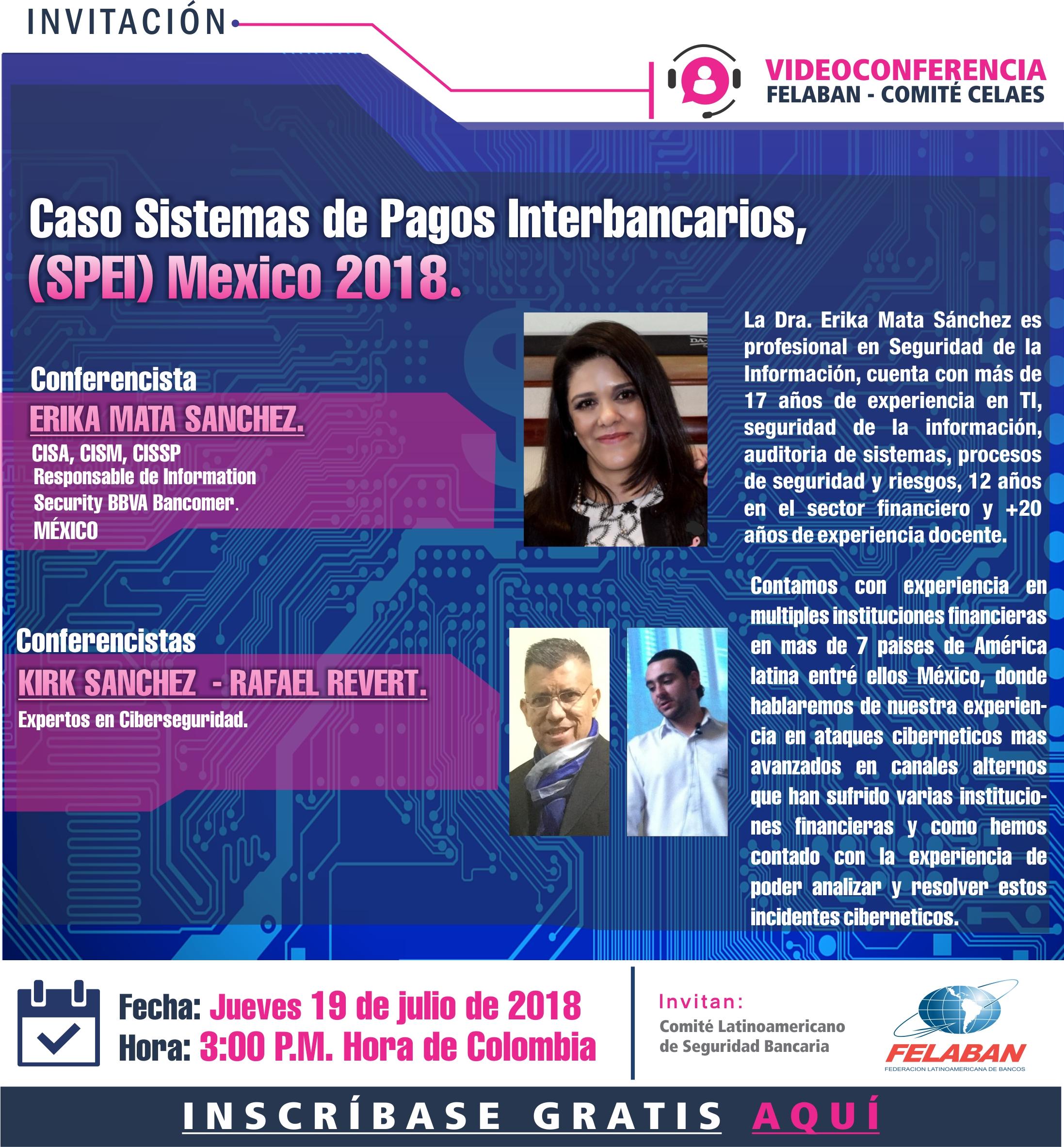 Caso Sistemas de Pagos Interbancarios, (SPEI) México 2018